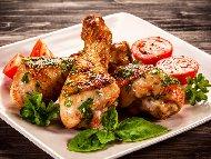 Рецепта Печени пилешки парти бутчета с майонеза на фурна